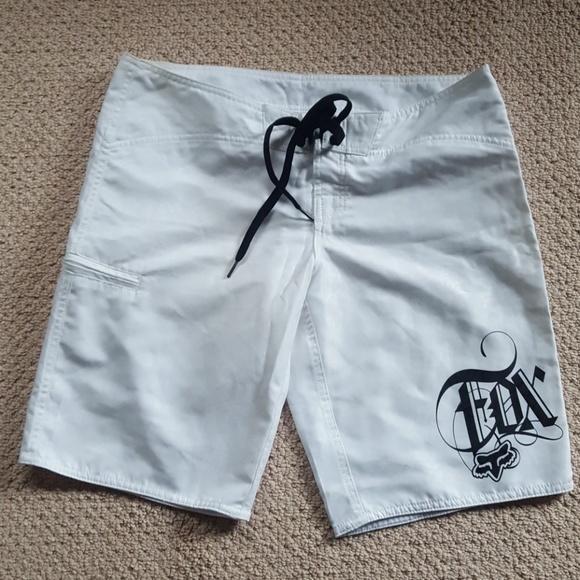 231ed799a7 Fox Swim | Head Racing White Long Boardshorts | Poshmark
